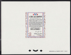 France 1964 0,25+0,05Fr Free France Proclamation. Deluxe Proof. Scott B378. Yvert 1408. - Prove Di Lusso