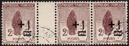 France Obl. N°  162 Profit Des Orphelins Surchargé + 1 C - Veuve Au Cimetière 3 Tp Dont Interpanneau