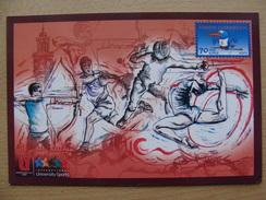 Turkey Pws 2010-10-05 Antalya Tennis Tennisplayer Archery Fencing University Sports Entier Postal Stationery Card