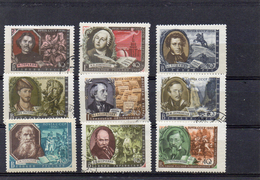 Russie 1956/57 Grands écrivains  - YT 1883/89 1935/36 ** Ou Obl