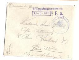 LETTRE.  PRISONNIER DE GUERRE.  1915  AVEC COURRIER.. DE HAMELI / KNECKLINGEN A PARIS.  TBE..SCAN