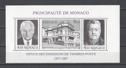 MONACO . YT Bloc 39 Neuf ** Cinquantenaire De L'O.E.T.P.  1987