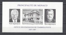 MONACO . YT Bloc 39a ND  Neuf ** Cinquantenaire De L'O.E.T.P.  1987