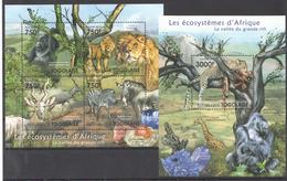 B31 2011 TOGOLAISE FAUNA ANIMALS LES ECOSYSTEMES D'AFRIQUE LA VALLEE KB+BL MNH