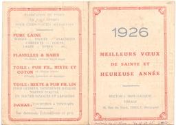 Kalender 1926 - Pub Reclame Tissage Hector Impe - Gauquie - Tielt - Calendriers