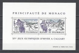 MONACO . YT Bloc 40 Neuf ** Jeux Olympiques D'hiver à Calgary 1988