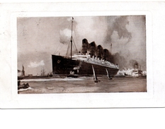 "CUNARD RMS ""Lusitania"" And ""Mauretania"". 1909 Postcard, S/R Holstein Ontario - Paquebots"