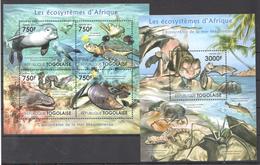 B33 2011 TOGOLAISE FAUNA LES ECOSYSTEMES D'AFRIQUE MEDITERRANEE KB+BL MNH