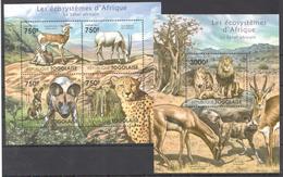 B35 2011 TOGOLAISE FAUNA ANIMALS LES ECOSYSTEMES D'AFRIQUE LE SAHEL KB+BL MNH