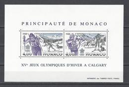 MONACO . YT Bloc 40 Neuf ** Jeux Olympiques D'hiver à Calgary 1988 (voir Détail)
