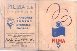 Kalender 1938 - Pub Reclame Filma - Drukwerken Papierhandel Brugge - Calendriers