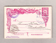 Türkei Constantinople Bahnhof 8.10.1904 Ganzsache Nach Winterthur - 1858-1921 Empire Ottoman