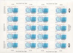 "Finnland 1991 Bogen Mit 20x MiNr. 1157/58 ""100 Jahre Finnische Chemiker Vereinigung"", Postfrisch; Sheet 20 Stamps MNH - Feuilles Complètes Et Multiples"