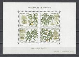 MONACO . YT Bloc 43 Neuf ** Les Quatre Saisons De L'olivier 1988