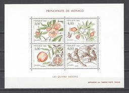 MONACO . YT Bloc 44 Neuf ** Les Quatre Saisons Du Grenadier 1989