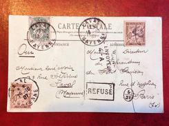 CPA : LAVAL : 53 / 53000 / Pour Le Directeur Du  Référendum Du Petit Parisien / Retour : Refusé .....