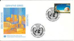 Austria UN Wien Vienna FDC 2-2-1990 Definitive Series 1,5 Sh. With Cachet - FDC