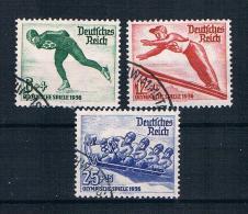 Deutsches Reich 1935 Olympia Mi.Nr. 600/02 Kpl. Satz Gest.