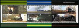 Q165.-. GREAT BRITAIN / GRAN BRETAÑA.-. 2004 .-.SC#: 2177A, CLASSIC LOCOMOTIVES. MINISHEET.-.SCV:US$ 45.00