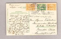 Türkei Tchekirke 15.1.1913 Ansichtskarte (Motiv Citadelle Brousse) Nach Pera - Lettres & Documents