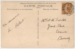Convoyeur CLERMONT A THIERS (Puy De Dome) Sur CPA Au Type Semeuse. 1929. - Poststempel (Briefe)