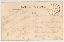 Convoyeur DREUX A PARIS  Sur CPA De BAZAINVILLE Seine Et Oise. 1920. - Poststempel (Briefe)
