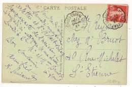 Convoyeur ST GEORGES D'AURAC A ST ETIENNE Sur CPA De CORNILLON Haute Loire. 1927 - Poststempel (Briefe)