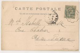 Convoyeur CHAMONIX AU FAYET Sur CPA De La Mer De Glace Haute Savoie . 1903 - Poststempel (Briefe)