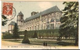 Convoyeur LIGNIERES A ST FLORENT S/CHER Sur CPA De Bourges Cher.. 1914. 2 FRAPPES. - Poststempel (Briefe)