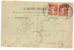 Convoyeur ETAMPES A PARIS Sur CPA De JAINVILLE Sur JUINE Essonne. 1922. - Poststempel (Briefe)