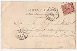 Convoyeur ST GERMAIN A MOULINS Sur CPA De MOULINS Allier. 1903. - Poststempel (Briefe)