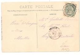 Convoyeur LES ANDELYS A ST PIERRE DU VAUVRAY Eure Sur CPA. 1905. - Poststempel (Briefe)