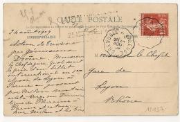 Convoyeur GRENOBLE A VALENCE Sur CPA. 1909 - Poststempel (Briefe)