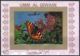 Umm Al-Qiwain 1972 - Butterfly ( Mi 1504B - YT Xxx ) MH* Imperforated - Mini Sheet