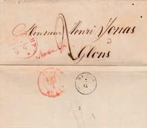 """LAC Van Maastricht """"Na Posttijd"""" Naar Glons ( Type 18 ) 1850. - 1830-1849 (Belgique Indépendante)"""