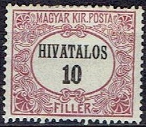 HUNGARY #  FROM 1921 STANLEY GIBBON O428*