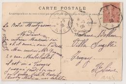 Ambulant Octoganal GRENOBLE A LYON A Sur CPA LA TOUR DU PIN Isère. - Poststempel (Briefe)