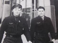 WW2>AVIATEURS AIR ALGÉRIE A ALGER EX COLONIE FRANÇAISE Photographie RPPC/CPA>Photo Originale>Guerre,Militaire,Militaria