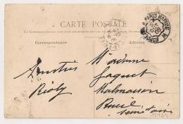 Convoyeur BORDEAUX A PARIS RAPIDE M Sur CPA De DISSAIS Vienne. - Poststempel (Briefe)