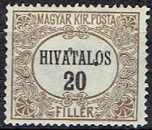 HUNGARY #  FROM 1921 STANLEY GIBBON O429*