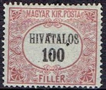 HUNGARY #  FROM 1921 STANLEY GIBBON O431*