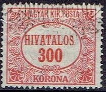 HUNGARY #  FROM 1922 STANLEY GIBBON O448