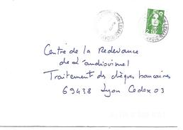 OBLITERATION DE CHENS SUR LEMAN (HAUTE SAVOIE) DU 7/8/1991 - Marcophilie (Lettres)