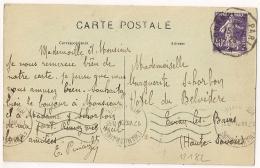 Convoyeur GOURNAY A PARIS Sur CPA De LA VILLETERTRE Oise. 1929. 3 SCANS - Poststempel (Briefe)