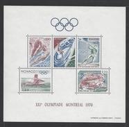 MONACO . YT Bloc 11 Neuf ** XXIe Jeux Olympiques De Montréal 1976