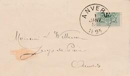 10 Ct Gehalveerd Op Briefje Anvers 1895