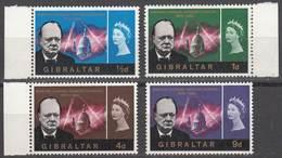 Gibraltar 1966 Churchill, Mint No Hinge, Sc# 171-174