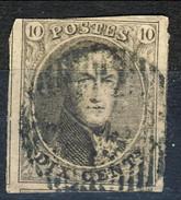 Belgio 1849 - 50 N. 3 C. 10 Bruno Effigie Di Re Leopoldo I, Usato, Molto Ben Marginato(giusto In Alto)  Cat. € 15 - Belgium