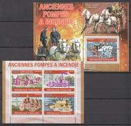 B56 2010 REPUBLIQUE TOGOLAISE HISTORY TRANSPORT INCENDIE FIRE TRUCKS KB+BL MNH