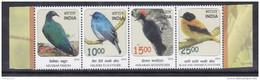 INDIA, 2016, Threatened Birds, Nicobar Pigeon,Nilgiri Flycatcher,Andaman Woodpecker. Set 4v Setenant, MNH, (**)